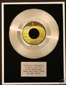 "MARY HOPKIN - 7"" Platinum Disc  KNOCK KNOCK WHO'S THERE"